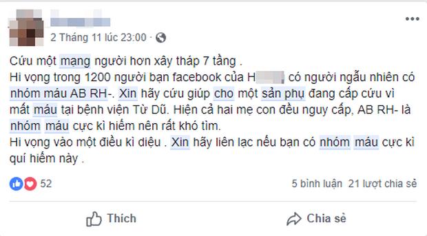 Bác sĩ Sài Gòn tìm người có nhóm máu hiếm gặp AB/Rh(-) cứu sản phụ băng huyết sau sinh - Ảnh 3.