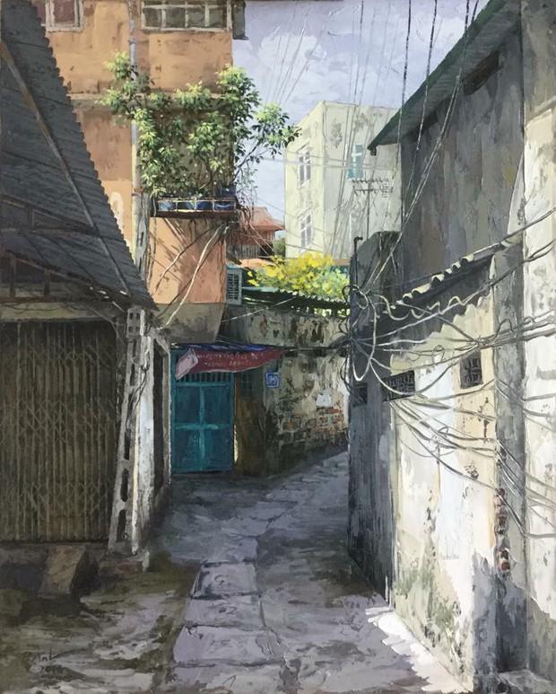 Chùm tranh sơn dầu chủ đề ngõ nhỏ, phố nhỏ đẹp ngỡ ngàng và chân thực không thua gì ảnh chụp - Ảnh 5.
