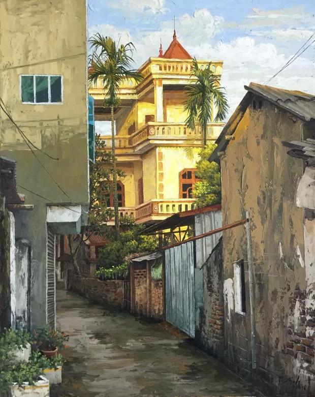 Chùm tranh sơn dầu chủ đề ngõ nhỏ, phố nhỏ đẹp ngỡ ngàng và chân thực không thua gì ảnh chụp - Ảnh 6.