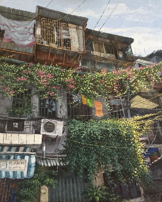 Chùm tranh sơn dầu chủ đề ngõ nhỏ, phố nhỏ đẹp ngỡ ngàng và chân thực không thua gì ảnh chụp - Ảnh 1.
