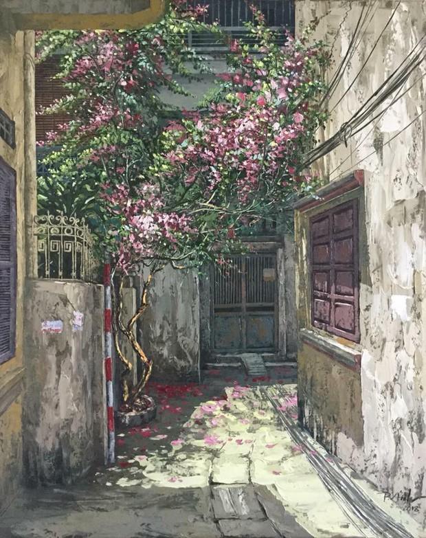 Chùm tranh sơn dầu chủ đề ngõ nhỏ, phố nhỏ đẹp ngỡ ngàng và chân thực không thua gì ảnh chụp - Ảnh 11.