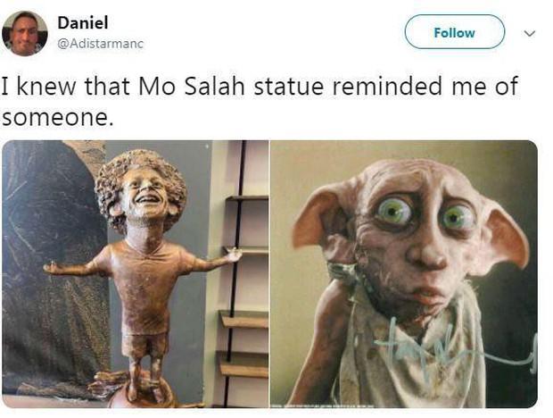 Danh thủ Mo Salah được tạc tượng vinh danh nhưng trông hơi sai một chút, dân mạng lập tức nhảy vào chế ảnh - Ảnh 9.