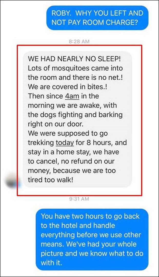 Khách Tây bùng tiền phòng ở Sapa vì nhiều muỗi và chó sủa, chủ homestay bức xúc: Người đàng hoàng sẽ đối mặt giải quyết chứ không bỏ đi như vậy! - Ảnh 3.