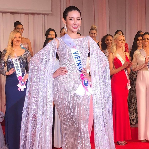 Miss International 2018: Thùy Tiên lộ trang phục dạ hội lộng lẫy - Ảnh 4.