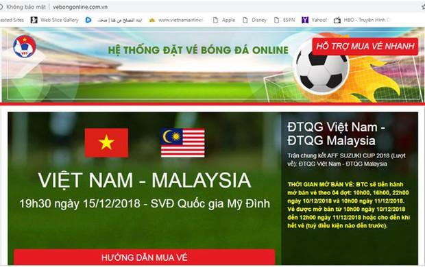 Xuất hiện trang web bán vé bóng đá giả mạo LĐBĐ Việt Nam - Ảnh 1.