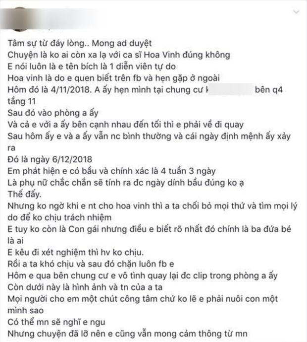 Hiện tượng mạng Hoa Vinh bị tố qua đêm khiến cô gái trẻ mang bầu nhưng chối bỏ trách nhiệm rồi chặn luôn Facebook - Ảnh 1.