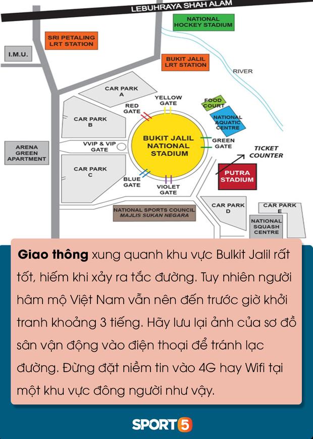 Những điều bạn cần lưu ý để tránh đổ máu khi đến Bukit Jalil cổ vũ tuyển Việt Nam đấu Malaysia - Ảnh 4.