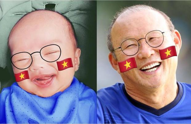 Quý tử của Nhật Anh Trắng cosplay HLV Park Hang Seo: Đáng yêu quá mức quy định! - Ảnh 1.