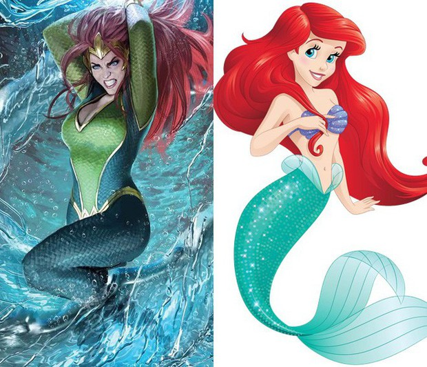 Hóa ra công chúa của Aquaman chính là phiên bản hiện đại của nàng tiên cá Ariel mà không ai hay! - Ảnh 1.