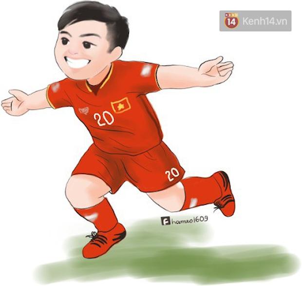 Các cầu thủ đội tuyển Việt Nam bình thường trên sân mạnh mẽ là thế, nay bỗng hóa cute dưới nét vẽ chibi siêu đáng yêu - Ảnh 5.