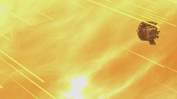 Tàu Parker trong dự án chạm vào Mặt trời đã gửi về bức hình cận cảnh đầu tiên, và nó đây - Ảnh 3.