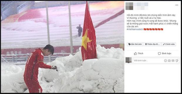 Hình ảnh Duy Mạnh cúi đầu trước quốc kỳ trên núi tuyết bất ngờ được dân mạng chia sẻ lại kèm lời chúc ý nghĩa - Ảnh 6.