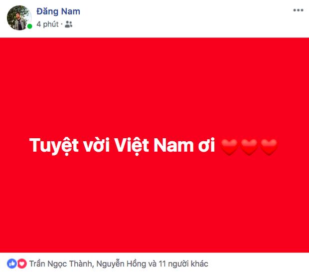 Dân mạng nhuộm đỏ Facebook với status ăn mừng chiến thắng của đội tuyển Việt Nam - Ảnh 6.