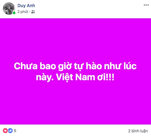 Dân mạng nhuộm đỏ Facebook với status ăn mừng chiến thắng của đội tuyển Việt Nam - Ảnh 5.