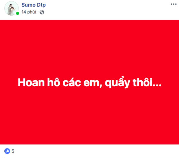 Dân mạng nhuộm đỏ Facebook với status ăn mừng chiến thắng của đội tuyển Việt Nam - Ảnh 1.