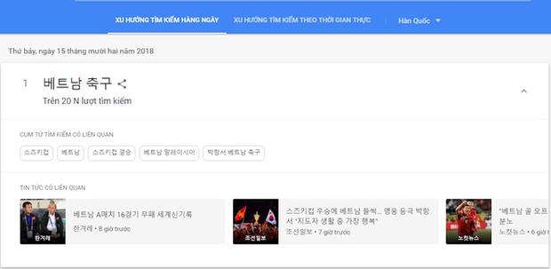 """Đội tuyển Việt Nam """"đốt cháy"""" bảng xếp hạng tìm kiếm Google ngay trong đêm - Ảnh 2."""