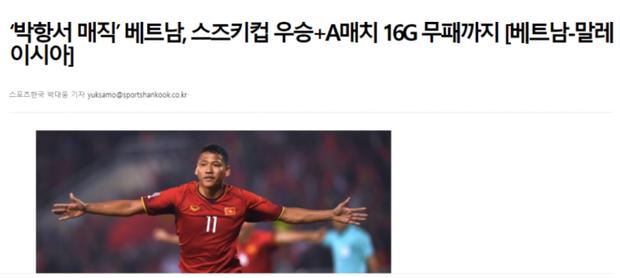 Báo chí Hàn Quốc đồng loạt gửi lời chúc mừng tới thầy trò HLV Park Hang-seo sau chiến thắng lịch sử - Ảnh 4.