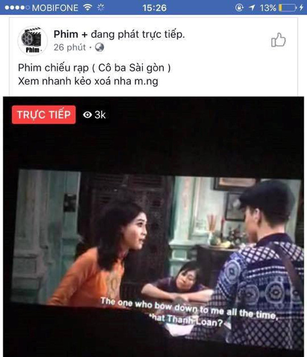 Sau Cô Ba Sài Gòn, đến lượt Gái Già Lắm Chiêu 2 bị livestream bất hợp pháp hơn 1 tiếng đồng hồ rồi chiếu lên mạng - Ảnh 2.