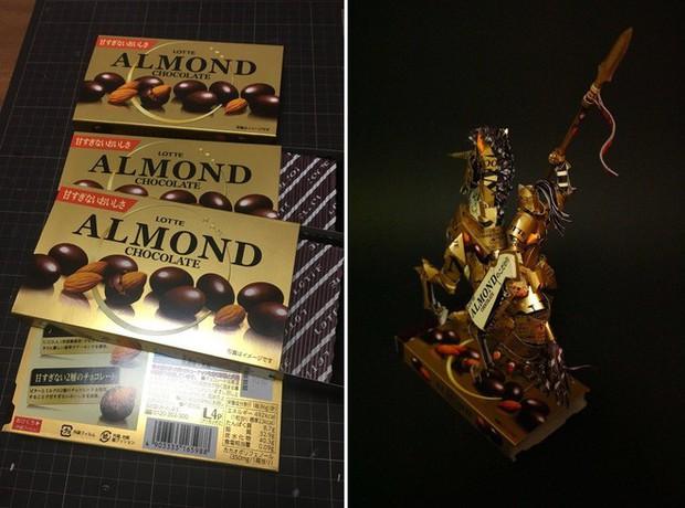 Biến vỏ hộp bánh kẹo thành mô hình tuyệt đẹp, chuyên gia cắt giấy Nhật Bản khiến Internet trầm trồ - Ảnh 5.