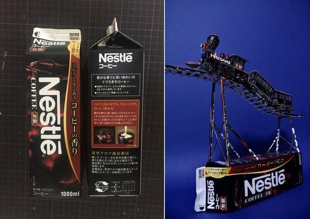 Biến vỏ hộp bánh kẹo thành mô hình tuyệt đẹp, chuyên gia cắt giấy Nhật Bản khiến Internet trầm trồ - Ảnh 6.