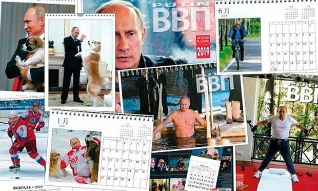 Bộ lịch của Tổng thống Nga Putin 'cháy hàng' ở Nhật Bản - Ảnh 1.