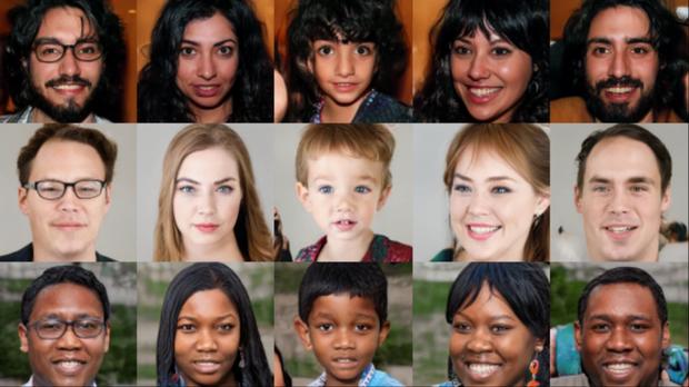 Nhìn những khuôn mặt này có giống người thật không? Ảo đấy, toàn AI tạo ra cả - Ảnh 1.