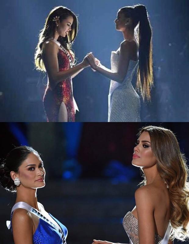 Top những điều trùng hợp thú vị về Hoa hậu Hoàn vũ 2018 so với các năm trước: Từ áo tắm hồng cho đến bức ảnh tiên đoán - Ảnh 9.