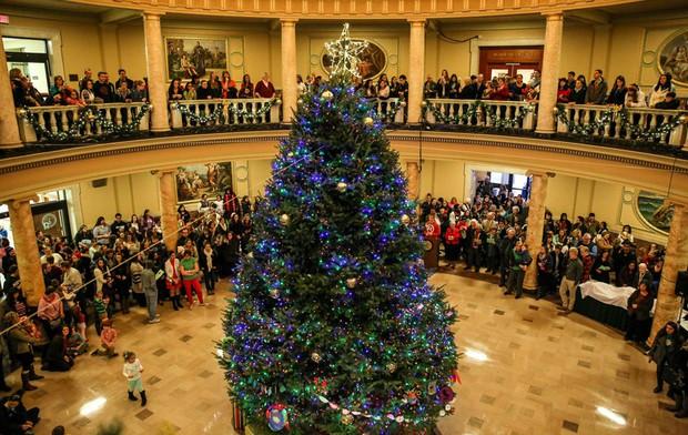 Choáng ngợp khung cảnh Noel ở các trường ĐH: Con nhà giàu sướng thật, đón Giáng sinh cũng chảnh hơn người! - Ảnh 9.