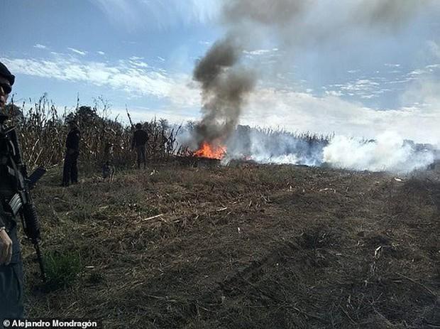 Hiện trường vụ rơi trực thăng khiến nữ Thống đốc Mexico thiệt mạng - Ảnh 2.