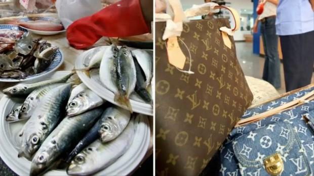 Chàng trai khóc ròng khi bà ngoại dùng túi LV 30 triệu đựng cá tươi đi chợ vì túi không bị rỉ nước - Ảnh 3.