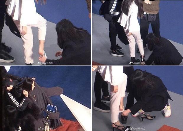 """Angela Baby bị tố """"bệnh ngôi sao"""" khi để stylist thay giày, cởi tất nhưng vẫn được netizen bênh vực hết lời - Ảnh 2."""