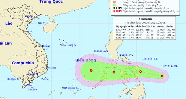 Áp thấp nhiệt đới áp sát Biển Đông, khả năng mạnh lên thành bão hướng vào Nam Bộ - Ảnh 1.