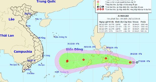Áp thấp có thể mạnh lên thành bão, hướng vào Nam Bộ dịp Tết Dương lịch - Ảnh 1.