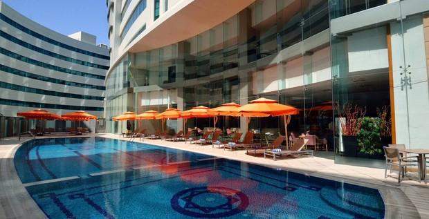 Cận cảnh khách sạn sang chảnh, nơi đội tuyển Việt Nam đóng quân tại Qatar - Ảnh 7.
