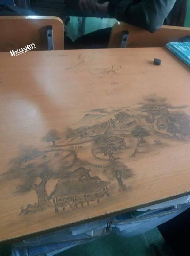 Rảnh tay vẽ giết thời gian, nhiều bạn đã tạo nên siêu phẩm trên bàn tuyệt đỉnh thế này đây - Ảnh 3.