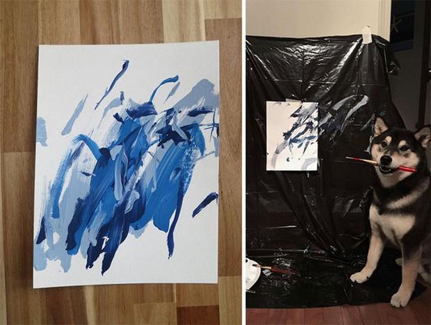 Chú chó shiba giúp chủ kiếm hơn 116 triệu đồng nhờ tài vẽ tranh trừu tượng - Ảnh 7.