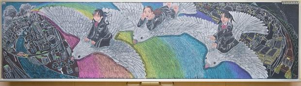 Tài năng như học sinh Nhật Bản: Chỉ phấn và bảng đen vẫn tạo nên những tác phẩm tuyệt đỉnh như thế này! - Ảnh 2.