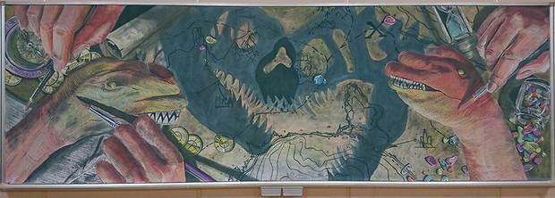 Tài năng như học sinh Nhật Bản: Chỉ phấn và bảng đen vẫn tạo nên những tác phẩm tuyệt đỉnh như thế này! - Ảnh 12.