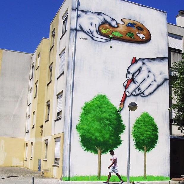 Khi những bức tường nhàm chán được thổi hồn bằng tranh vẽ, ai đi qua cũng sẽ phải ngoái nhìn - Ảnh 20.