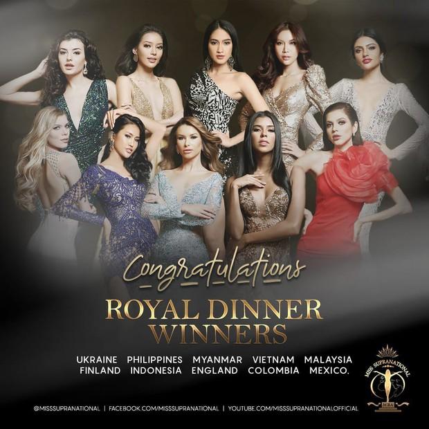 """Minh Tú đứng thứ 2 bình chọn, chính thức có mặt trong bữa tiệc """"Royal Dinner"""" trước Chung kết Miss Supranational - Ảnh 1."""