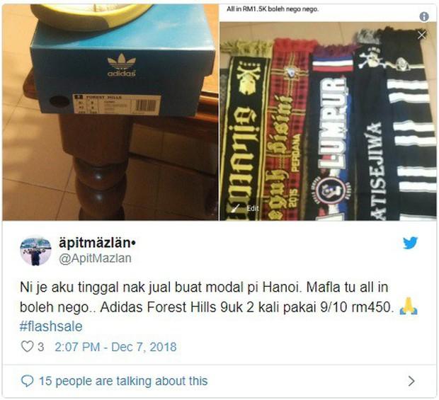 CĐV Malaysia khô máu, lên mạng thanh lý đồ đạc chỉ vì một tấm vé sang Mỹ Đình xem chung kết - Ảnh 2.