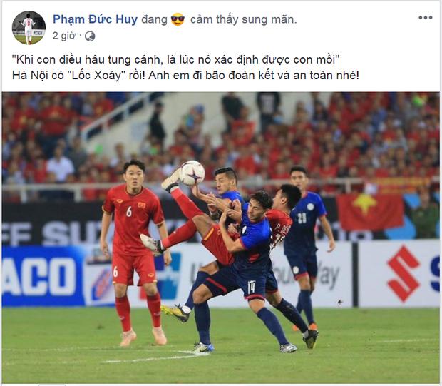 Trong khi các đồng đội thi nhau ăn mừng trên MXH, Đức Huy lại chỉ lo đến sự an toàn của fan - Ảnh 1.