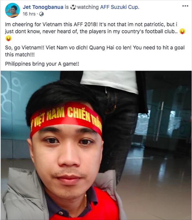 Thầy giáo điển trai người Philippines gây sốt vì cổ vũ cho đội Việt Nam: Chết rồi, tôi không còn đường về nước! - Ảnh 2.