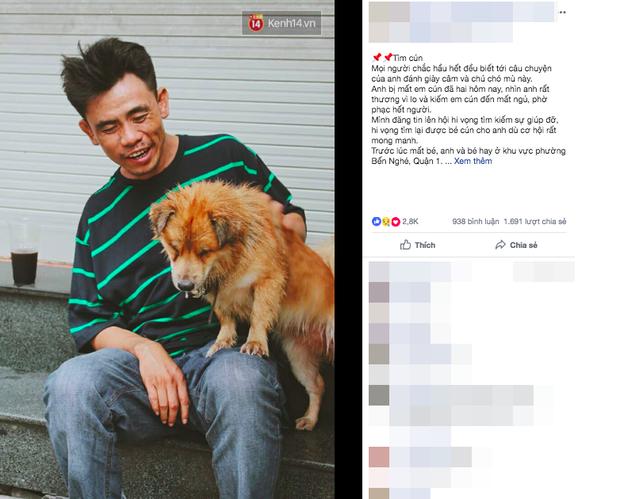 Điều kỳ diệu đã xuất hiện: Chú chó mù trở về bên anh đánh giày câm sau hơn nửa tháng mất tích - Ảnh 3.