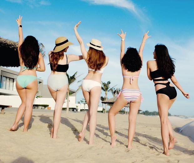Hội bạn thân Trinh Xíu, Trang Hý, Kaity rủ nhau khoe dáng nuột với bikini - Ảnh 2.