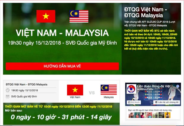 Hướng dẫn mua vé online trận chung kết AFF Cup lượt về giữa Việt Nam và Malaysia - Ảnh 2.
