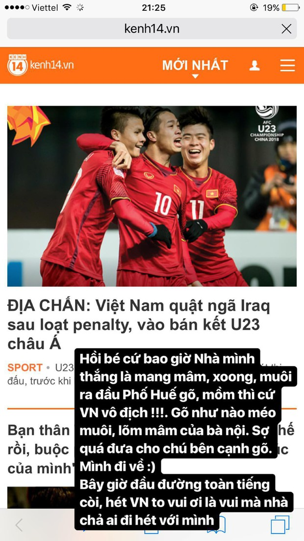 Vui thôi đừng vui quá Phí Phương Anh ơi, ăn mừng tuyển U23 thế nào mà để bị CSGT bắt thế này? - Ảnh 1.