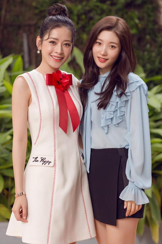 Vòng 1 đồ sộ hơn hẳn, nhan sắc của Chi Pu liệu có đánh bật được nữ thần Jung Chae Yeon trong một khung hình? - Ảnh 4.