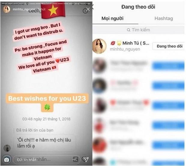 Minh Tú phản pháo trước thông tin đá xéo Bùi Tiến Dũng vì bị unfollow instagram - Ảnh 3.