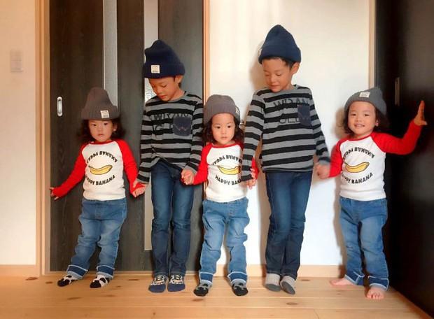 Nhà có 5 thiên thần sinh đôi và sinh ba, bà mẹ Nhật đã cho ra đời bộ ảnh đáng yêu như thế đấy - Ảnh 1.